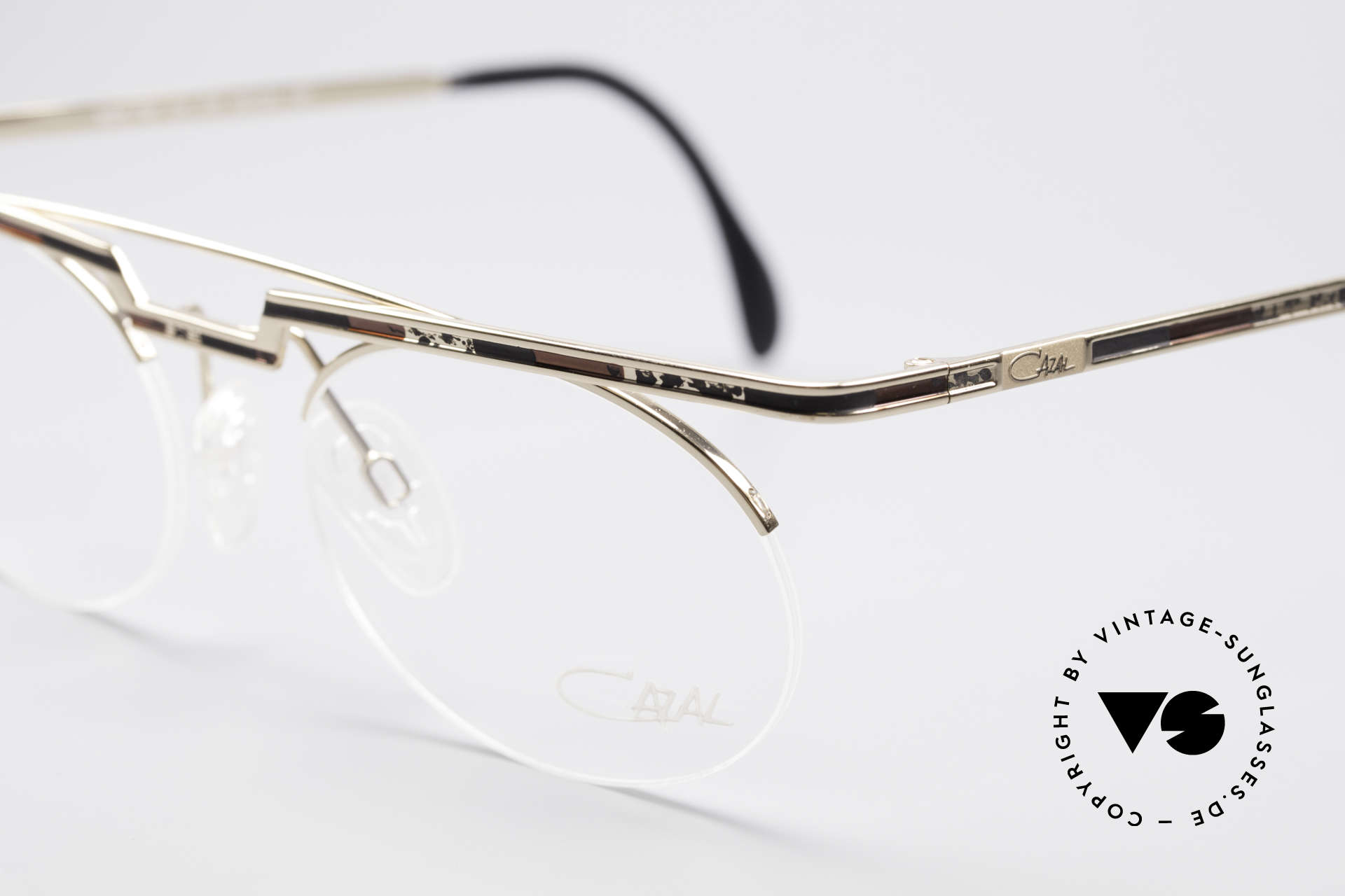 "Cazal 758 Original 90s Vintage Glasses, color description in the old catalog: ""gold brown-black"", Made for Men and Women"