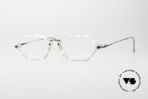 Cazal 1302 - Point 2 Octagonal 90's Eyeglasses Details
