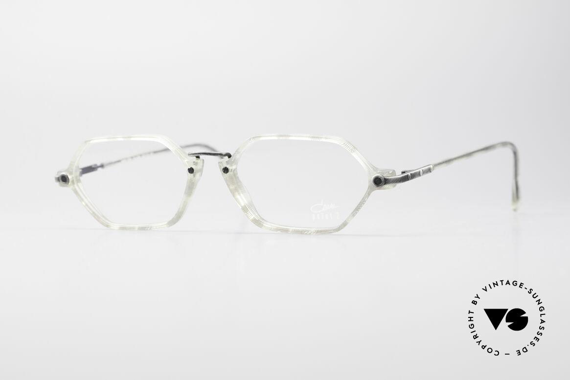 Cazal 1302 - Point 2 Octagonal 90's Eyeglasses, subtle & filigree vintage designer eyeglasses by CAZAL, Made for Men and Women
