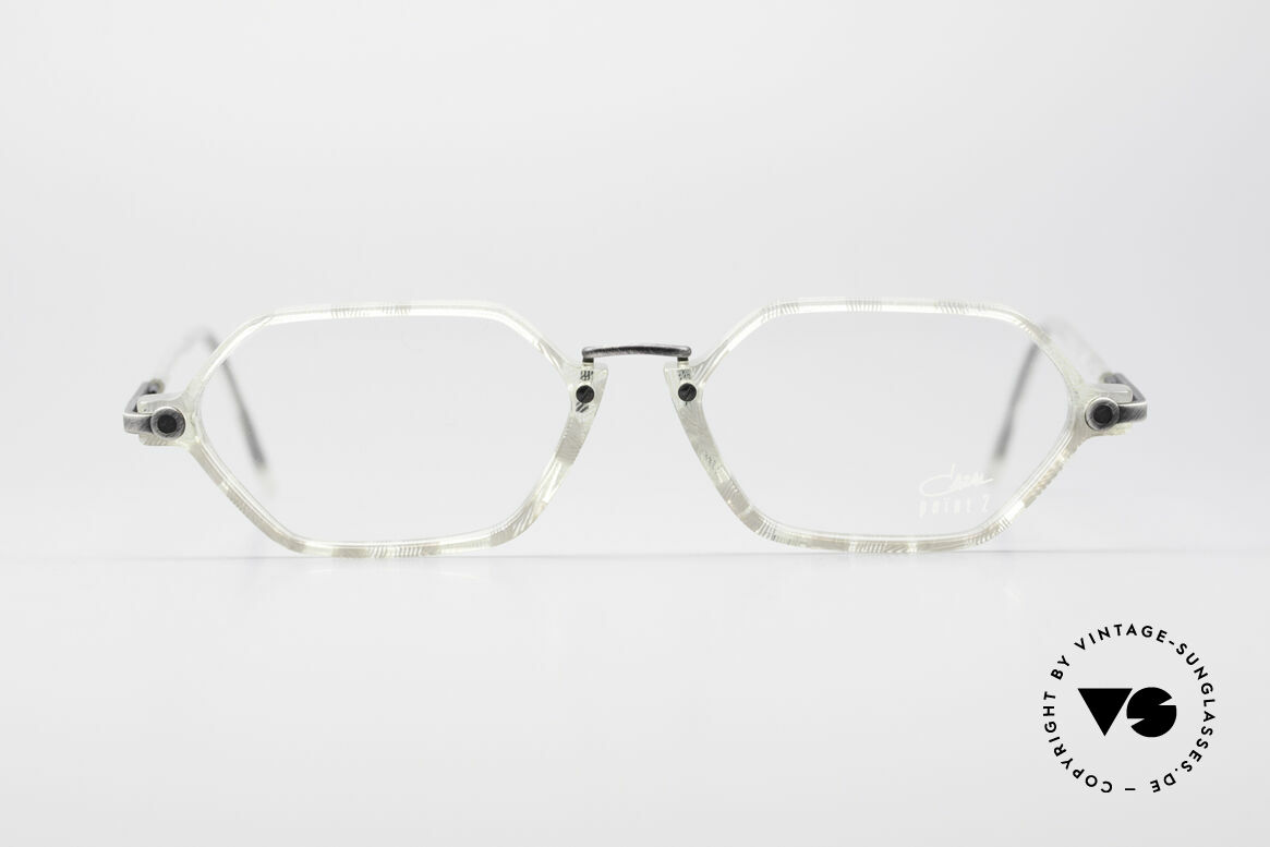 Cazal 1302 - Point 2 Octagonal 90's Eyeglasses, an old original of the discreet 'Point 2' Series from 1999, Made for Men and Women