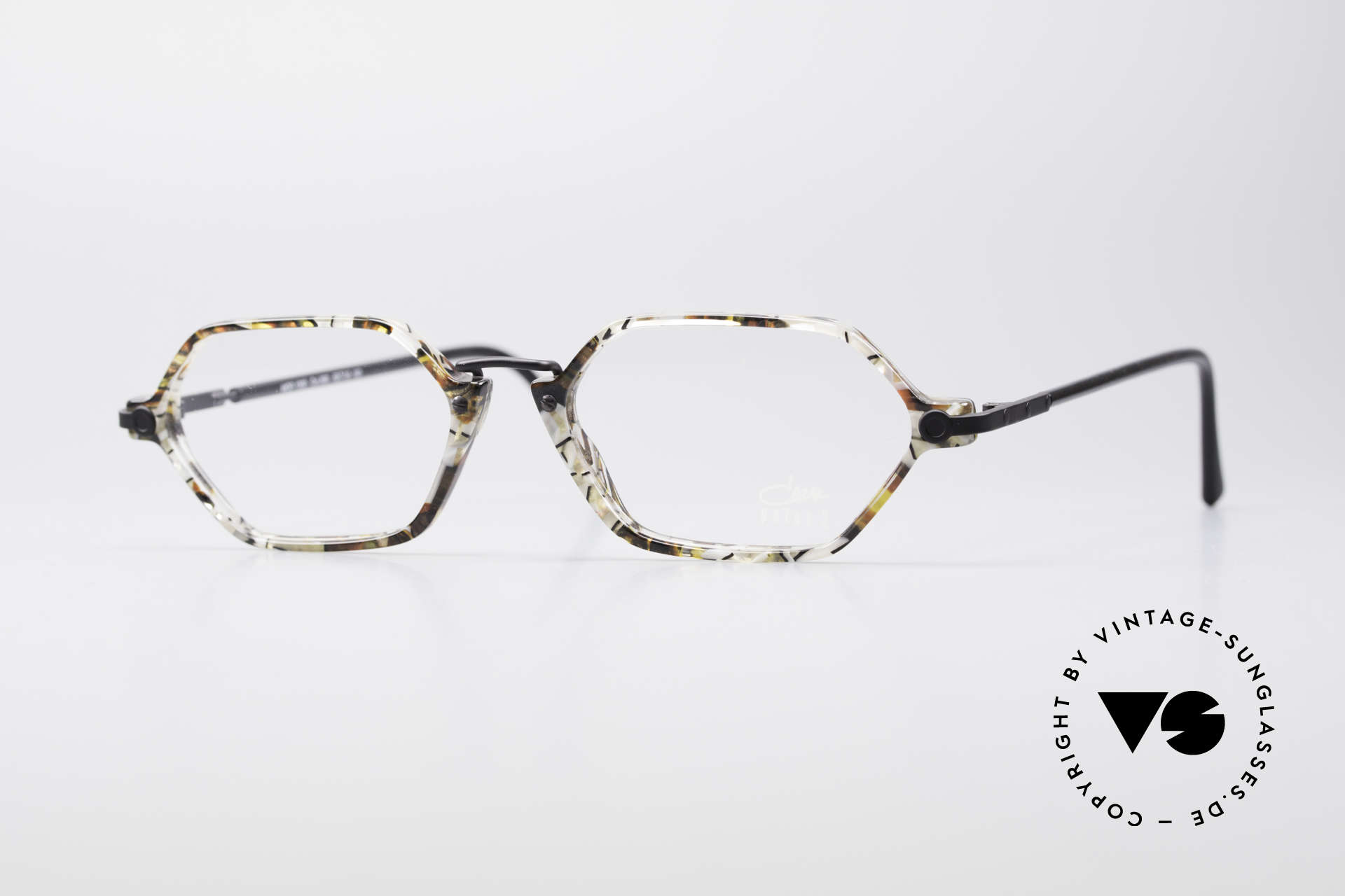 Cazal 1302 - Point 2 Octagonal 90's Eyeglass-Frame, subtle & filigree vintage designer eyeglasses by CAZAL, Made for Men and Women