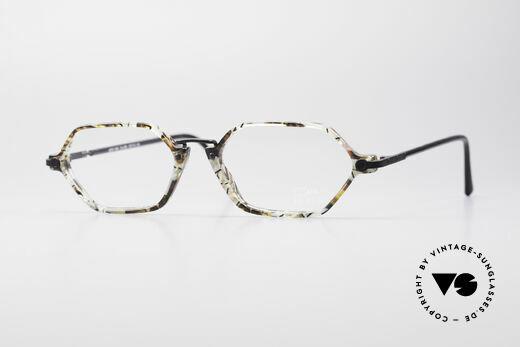 Cazal 1302 - Point 2 Octagonal 90's Eyeglass-Frame Details
