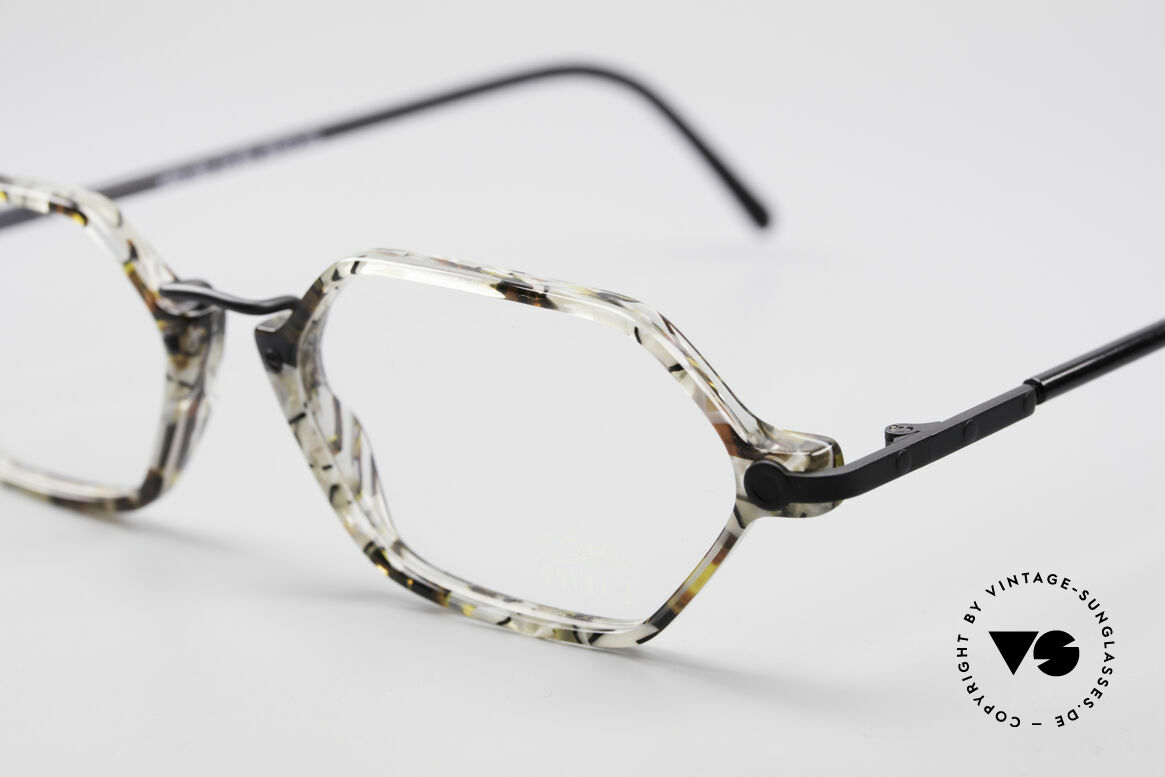 Cazal 1302 - Point 2 Octagonal 90's Eyeglass-Frame, sophisticated color design (pebble patterned / dull black), Made for Men and Women