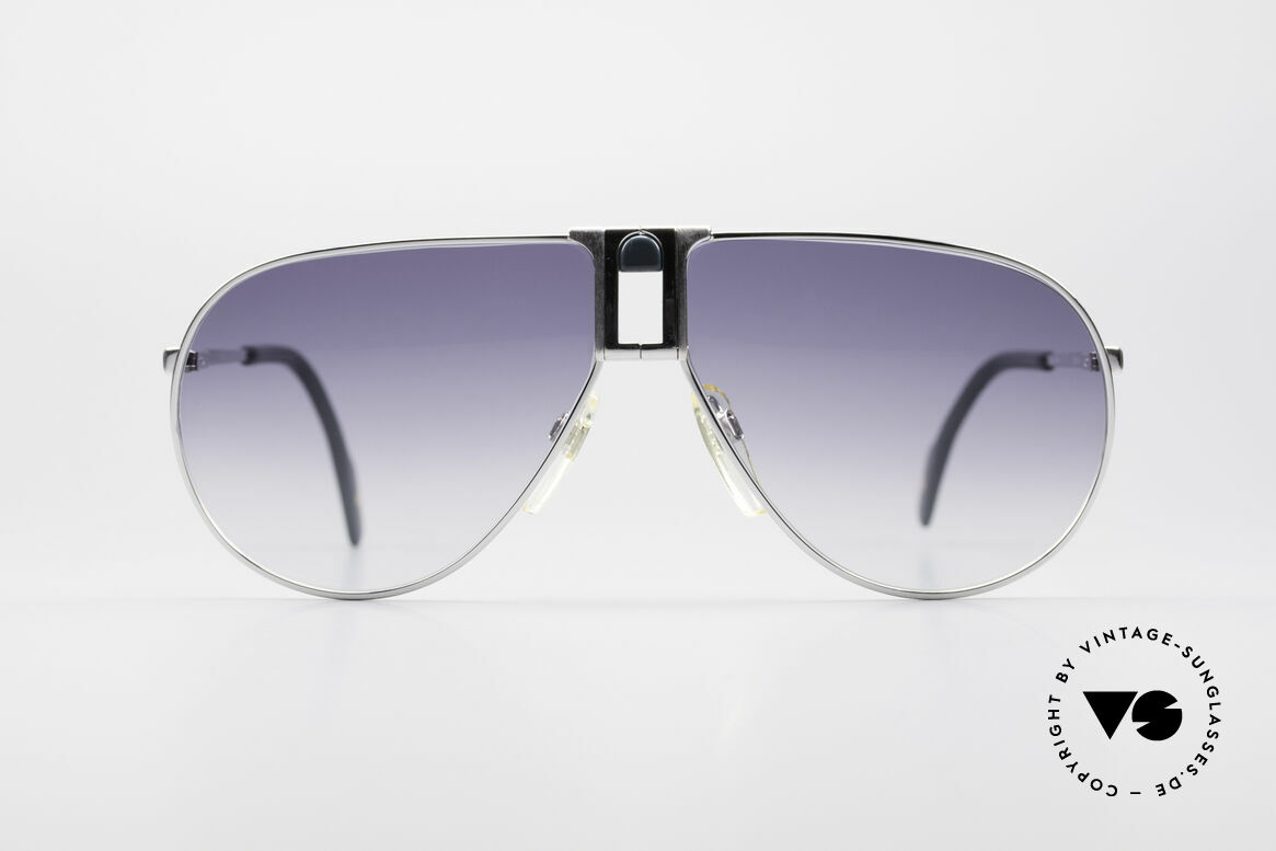 Longines 0154 Large 80's Aviator Sunglasses, precious frame with spring hinges (Metzler, Germany), Made for Men