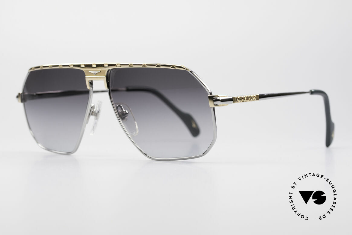 Longines 0152 Rare 80's Titanium Sunglasses, medium size 58-13 and with leather case by GENTA, Made for Men