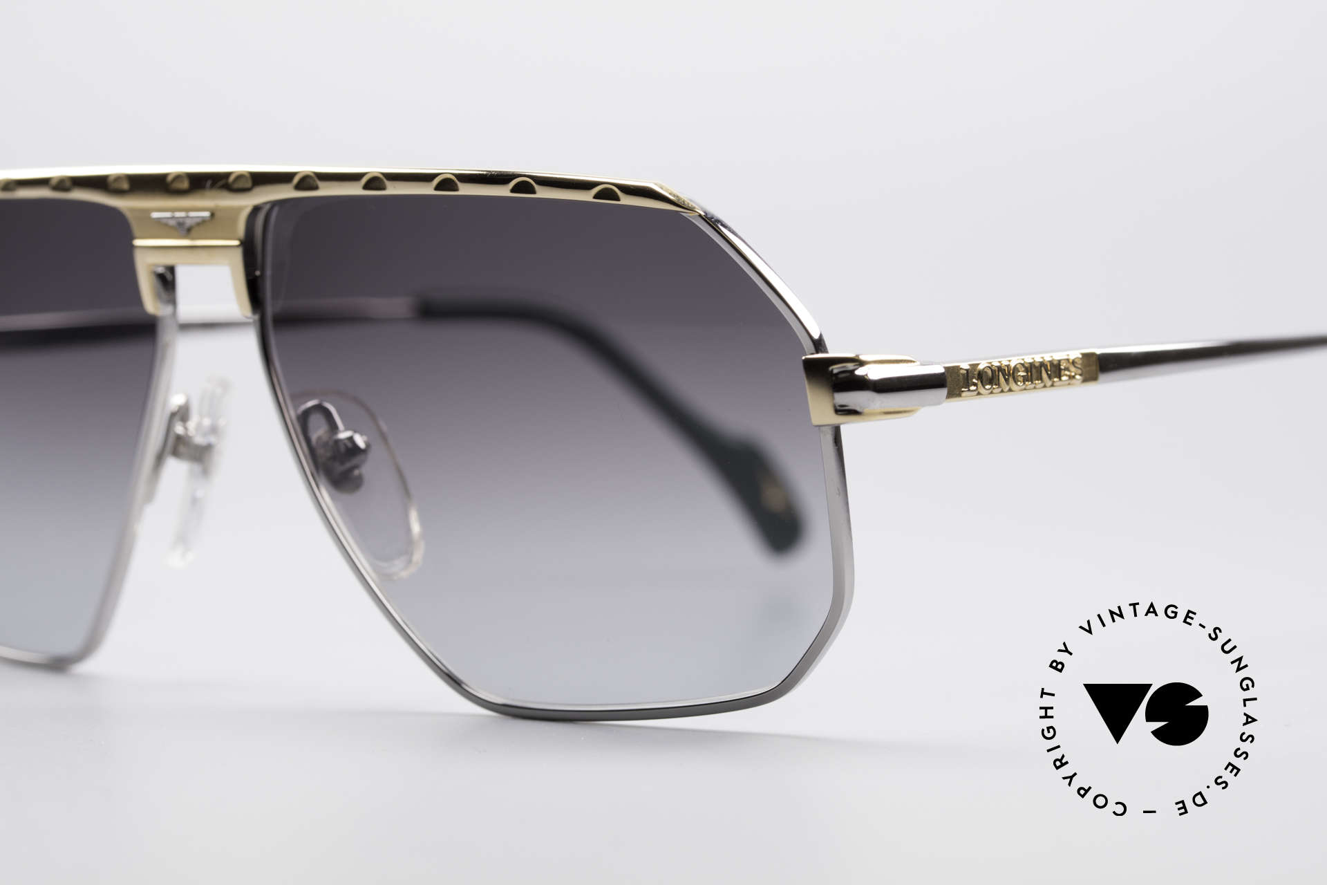 Longines 0152 Rare 80's Titanium Sunglasses, 'PURE TITANIUM' frame (lightweight & comfortable), Made for Men