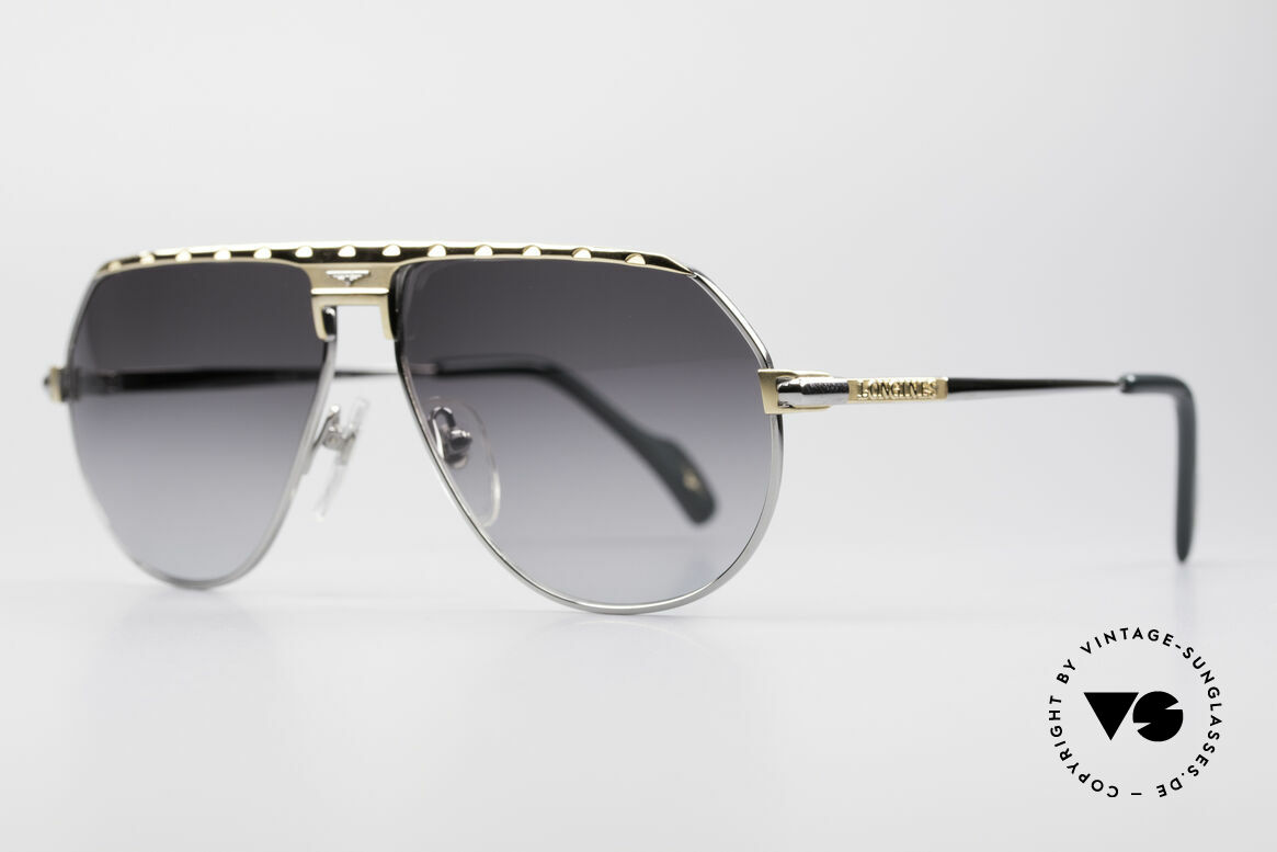 Longines 0151 Rare Titanium 80's Sunglasses, medium size 58-13 and with leather case by GENTA, Made for Men