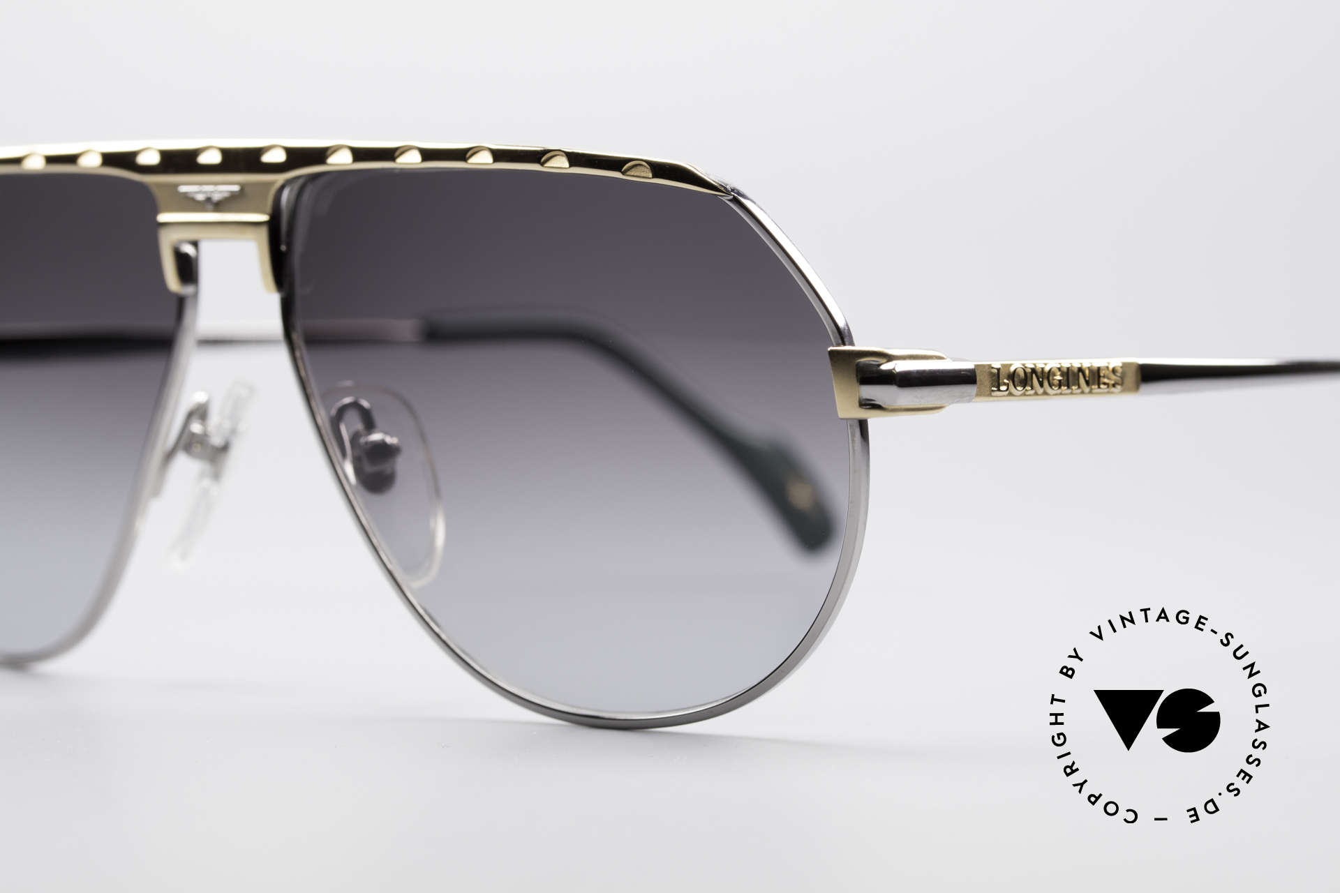 Longines 0151 Rare Titanium 80's Sunglasses, 'PURE TITANIUM' frame (lightweight & comfortable), Made for Men