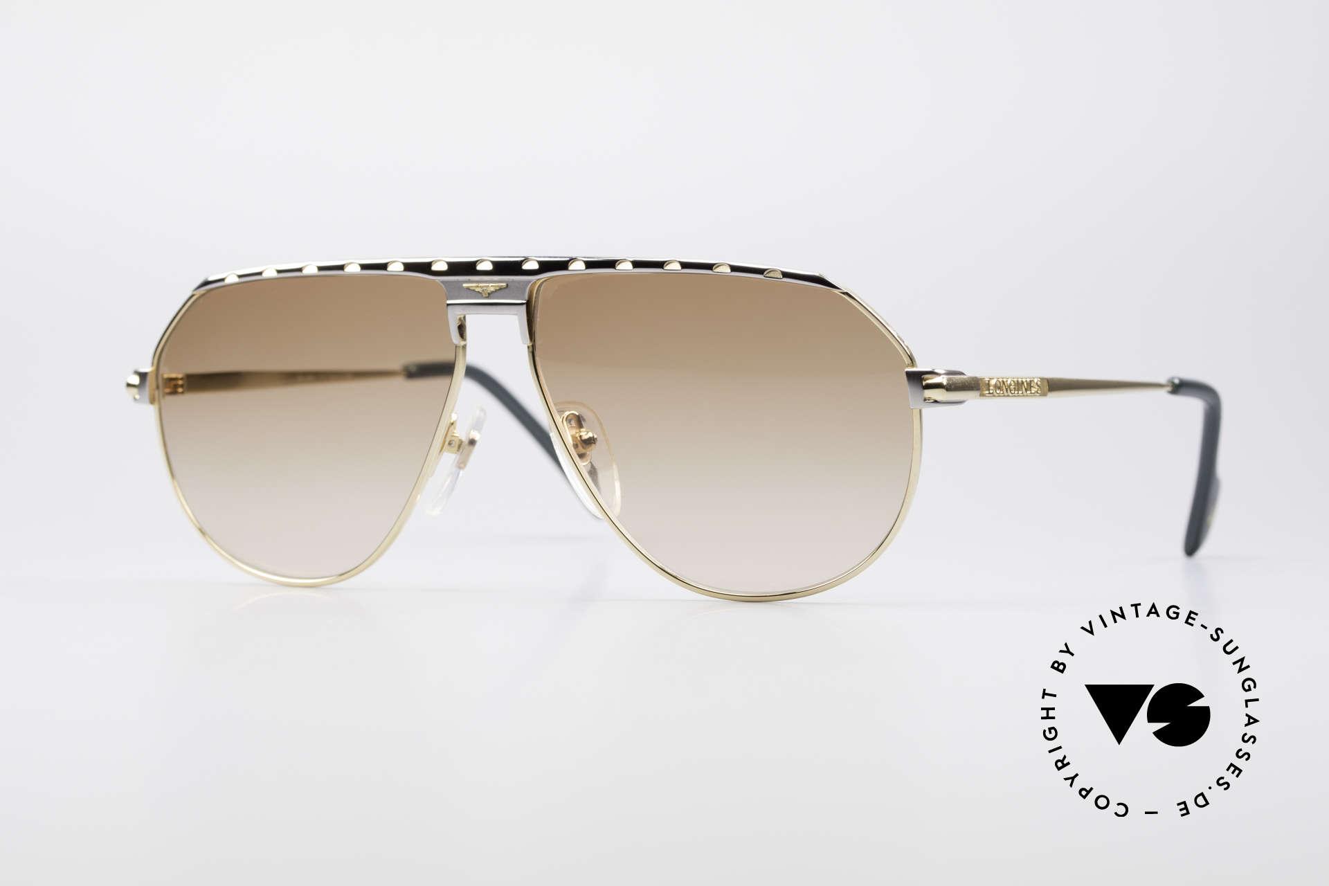 Longines 0151 Large 80's Titanium Sunglasses, premium vintage 80's designer shades by Longines, Made for Men