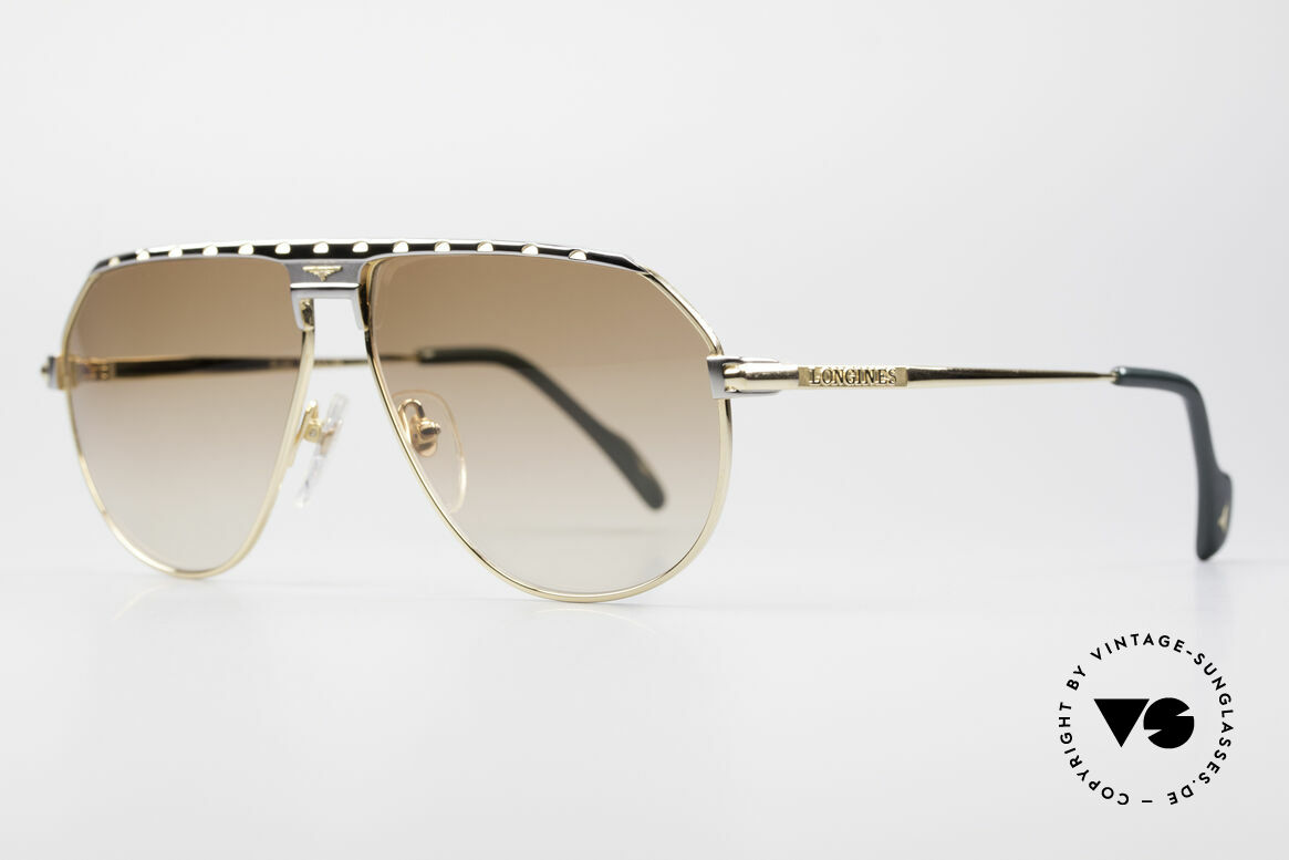 Longines 0151 Large 80's Titanium Sunglasses, LARGE size 61-13 and with leather case by GENTA, Made for Men