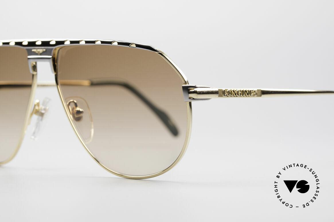 Longines 0151 Large 80's Titanium Sunglasses, 'PURE TITANIUM' frame (lightweight & comfortable), Made for Men