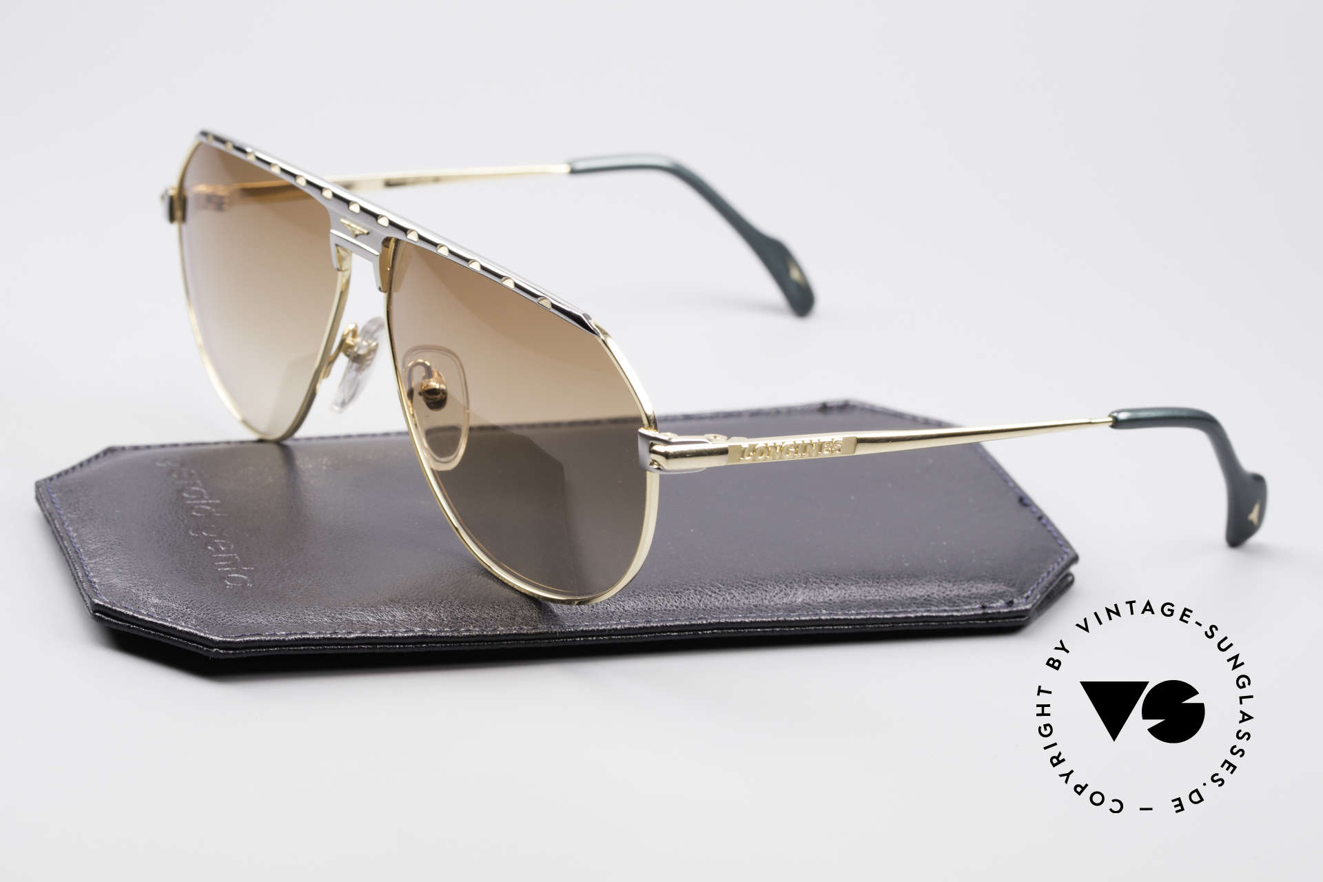 Longines 0151 Large 80's Titanium Sunglasses, noble frame coloring (gentlemen like); truly vintage, Made for Men