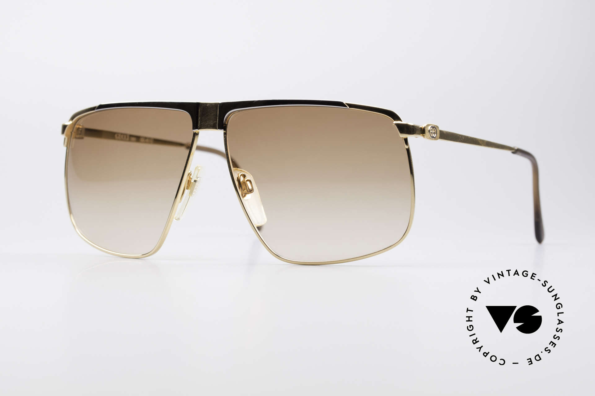 Gucci GG40 22kt Gold-Plated Sunglasses, vintage Gucci GG40 luxury shades, 22kt gold-plated, Made for Men