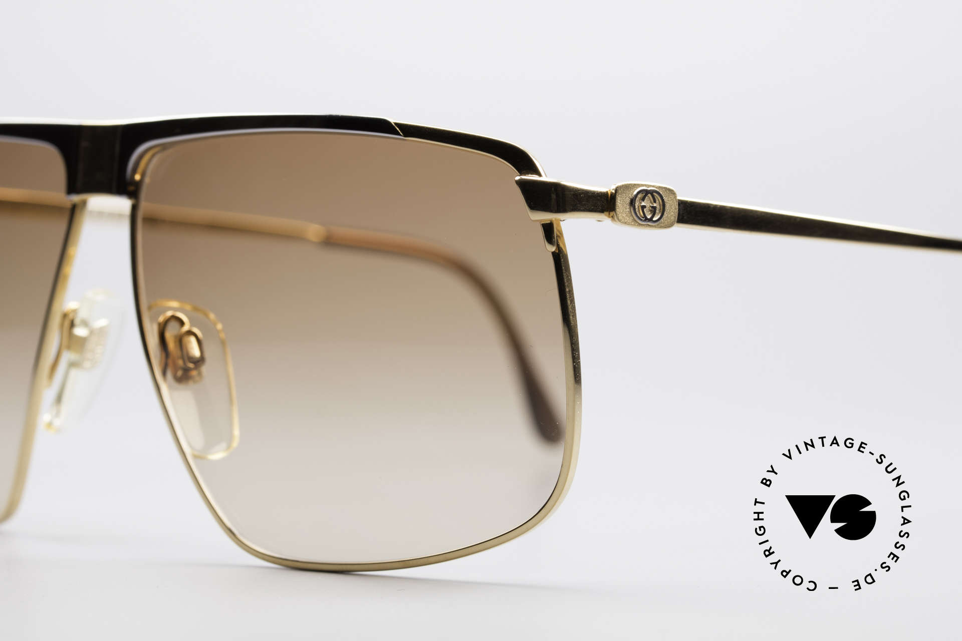 Gucci GG40 22kt Gold-Plated Sunglasses, unworn, NOS (like all our vintage Gucci sunglasses), Made for Men