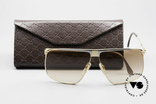 Gucci GG40 22kt Gold-Plated Sunglasses, Size: medium, Made for Men