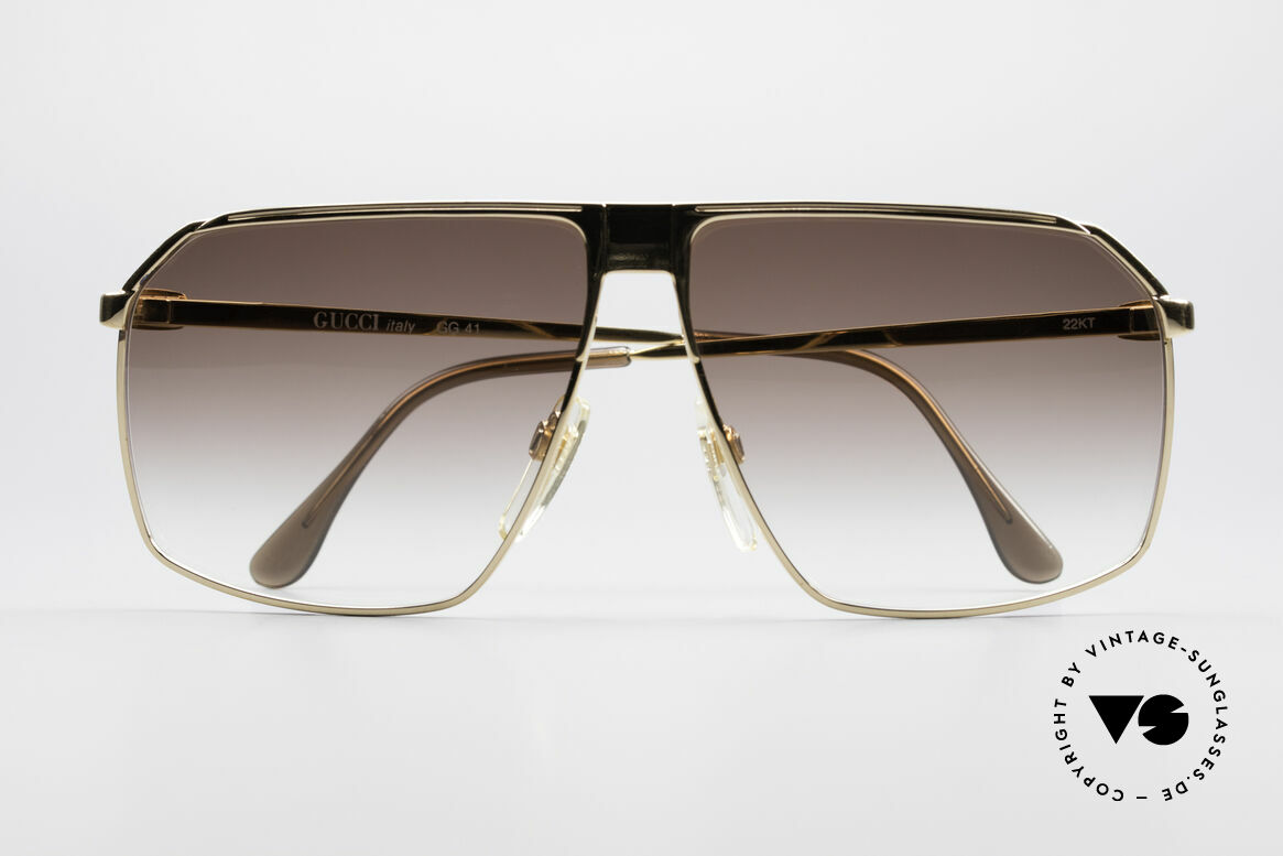 Gucci GG41 22kt Gold-Plated Sunglasses