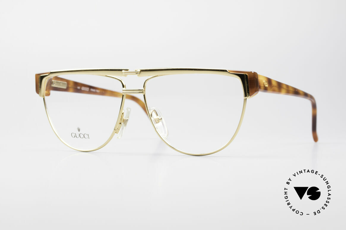 Gucci 2320 Luxury Designer Glasses 80's, vintage 80's eyeglasses by GUCCI with tortoise look, Made for Men and Women