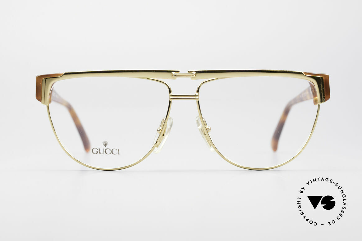 Gucci 2320 Luxury Designer Glasses 80's, with the famous Gucci symbol (2 connected stirrups), Made for Men and Women