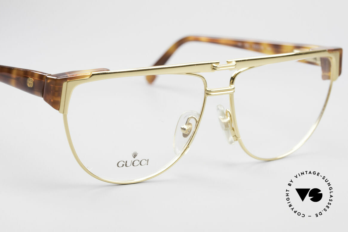 Gucci 2320 Luxury Designer Glasses 80's, NO RETRO fashion, but real 1980's retail commodity, Made for Men and Women