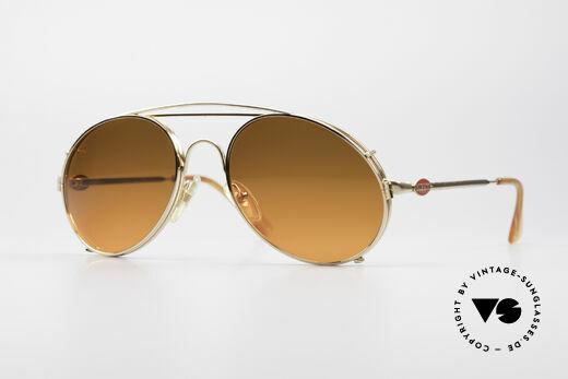 Bugatti 65986 Vintage Glasses with Sun Clip Details