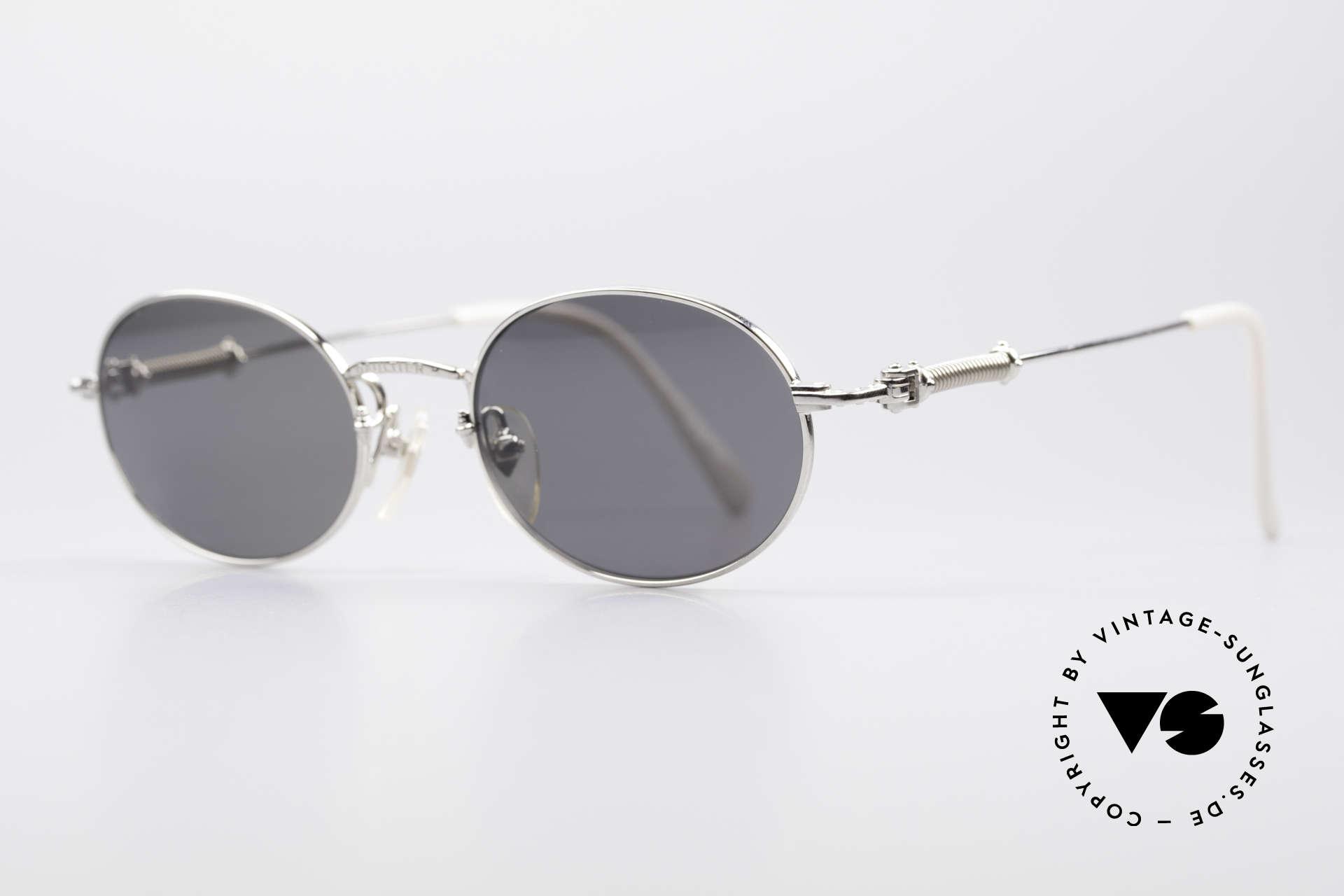 Jean Paul Gaultier 55-6101 Polarized Oval Sunglasses, POLARIZED sun lenses (for 100% UV protection), Made for Men and Women