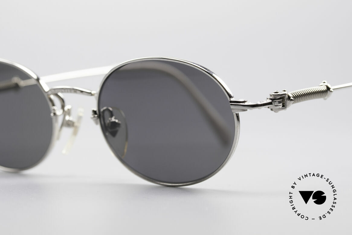Jean Paul Gaultier 55-6101 Polarized Oval Sunglasses, incredible top-quality; distinctive JPG collection, Made for Men and Women