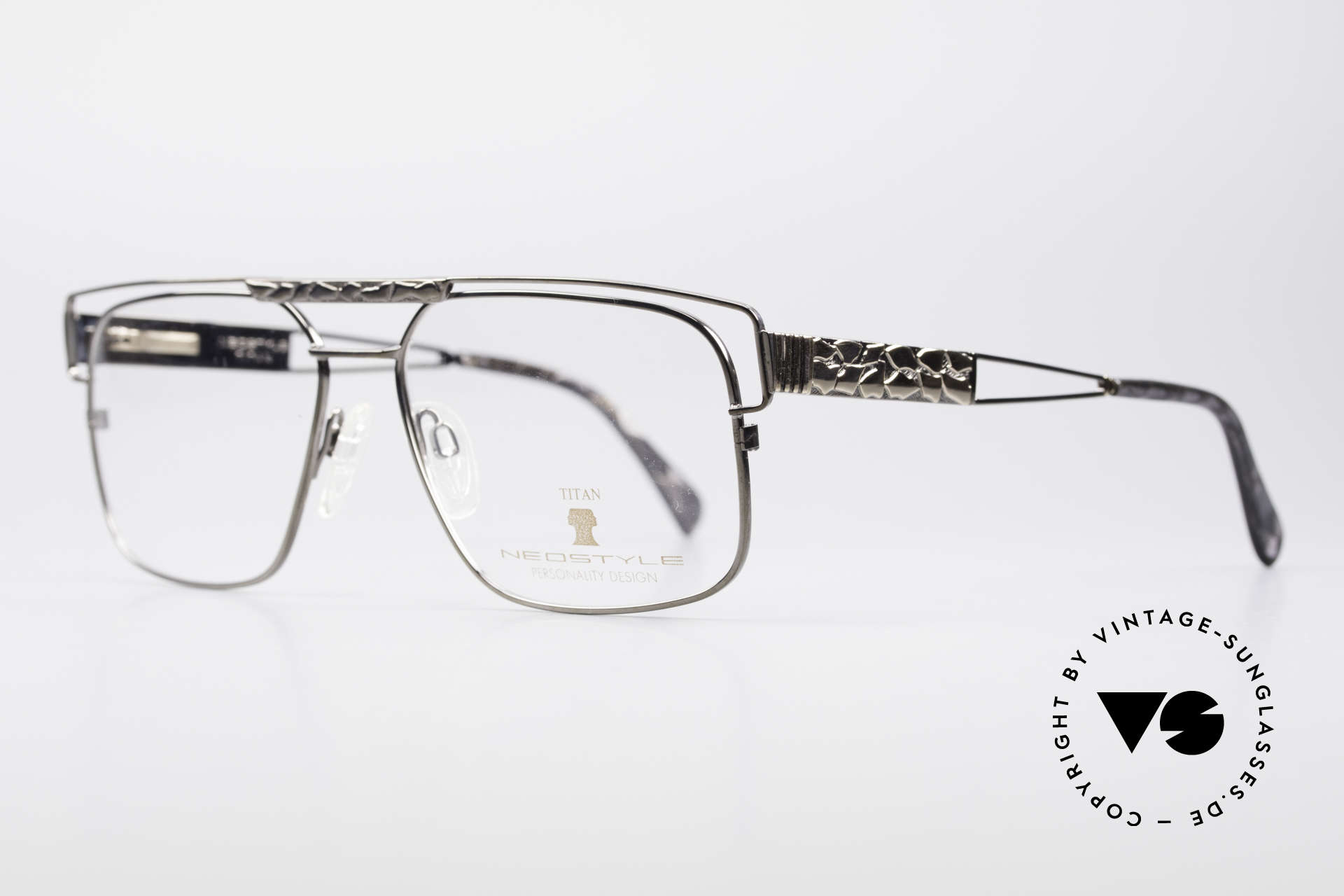 Neostyle Dynasty 430 80's Titanium Eyeglasses Men, with flexible spring hinges & orig. Neostyle box, Made for Men