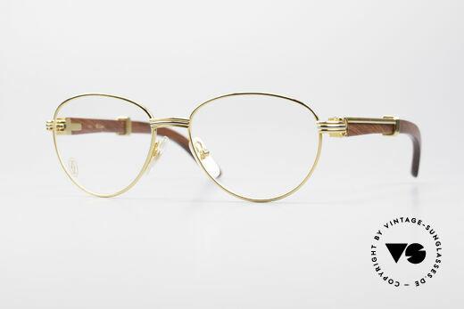 Cartier Auteuil Precious Wood Panto Glasses Details