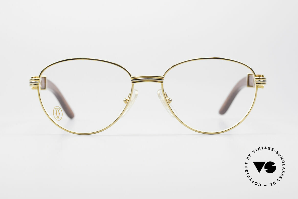 Cartier Auteuil Precious Wood Panto Glasses, precious wood CARTIER vintage eyeglasses from 1997, Made for Men and Women