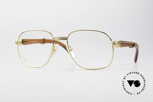 Cartier Monceau Bubinga Precious Wood Glasses Details