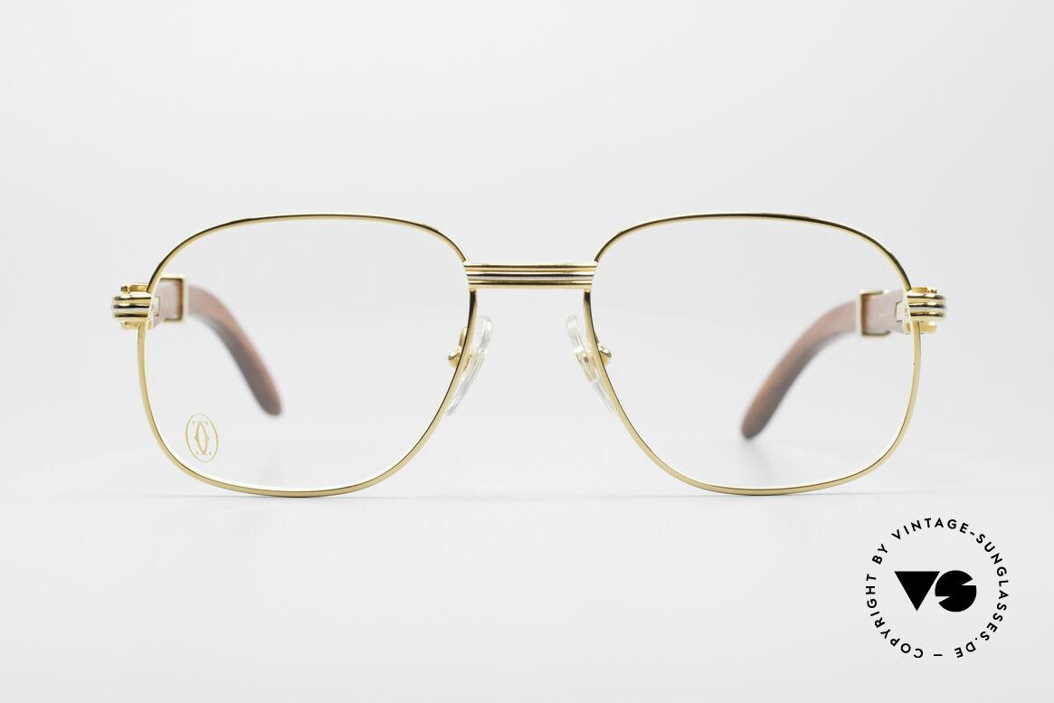 Cartier Monceau Bubinga Precious Wood Glasses