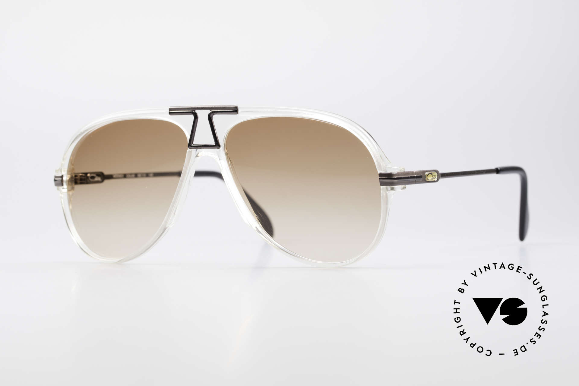 Cazal 622 Vintage 80's Aviator Sunglasses, legendary aviator-shape interpreted by CAri ZALloni, Made for Men