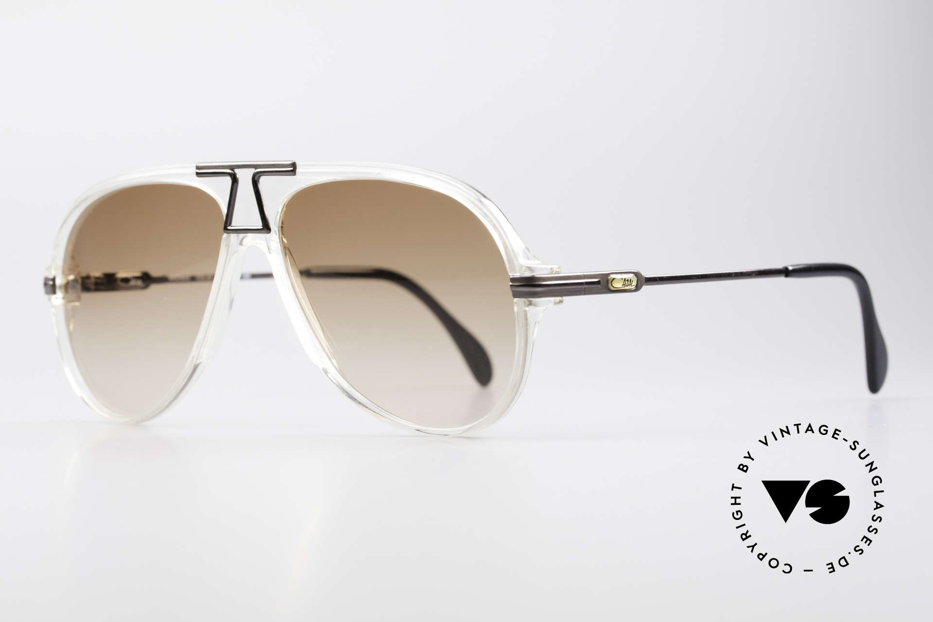 Cazal 622 Vintage 80's Aviator Sunglasses, crystal frame coloring (typically 80's), true vintage!, Made for Men