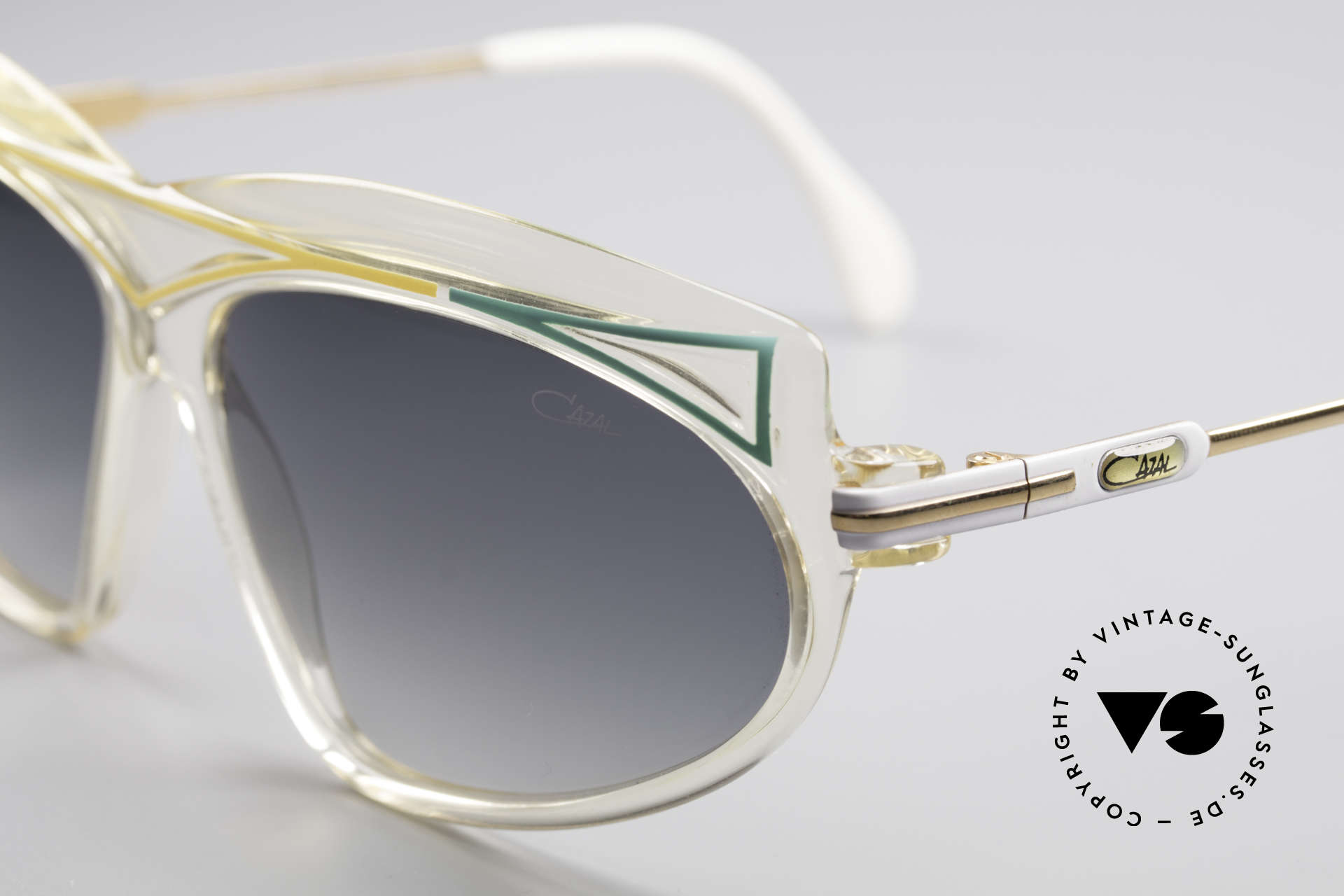 Cazal 854 XL True Vintage Hip Hop Shades, typical 80's frame coloring & design: true eye-catcher, Made for Women