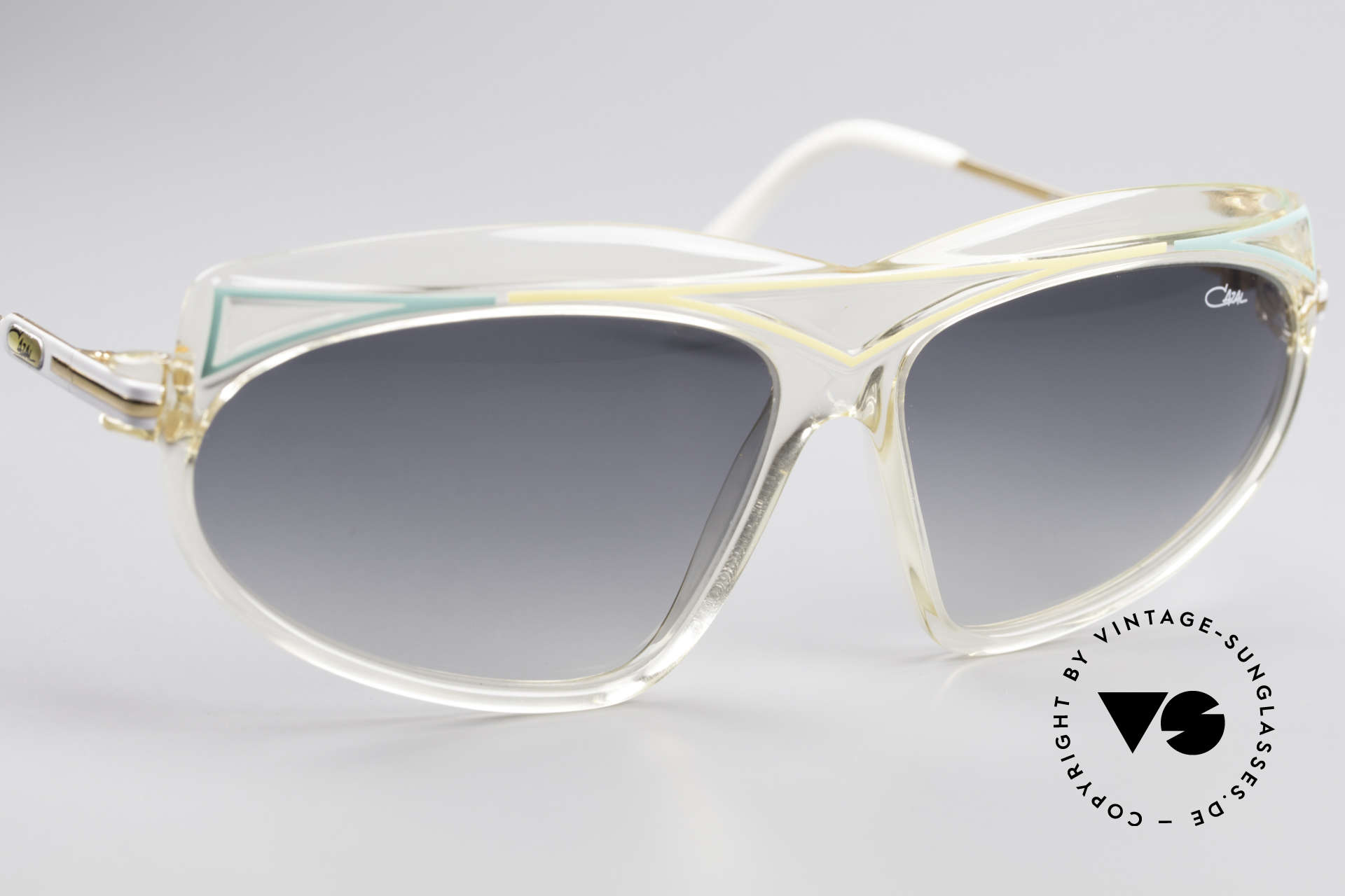 Cazal 854 XL True Vintage Hip Hop Shades, unworn and with original Cazal case (collector's item), Made for Women