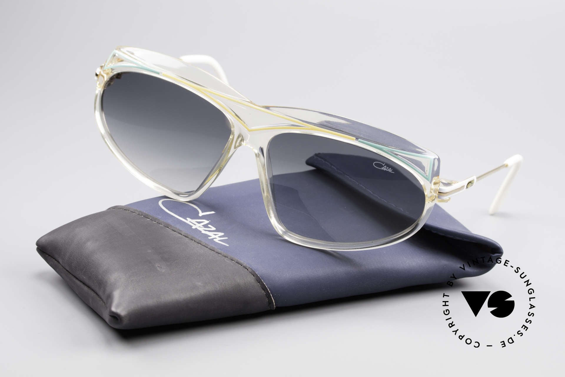 Cazal 854 XL True Vintage Hip Hop Shades, NO retro sunglasses but a 30 years old vintage original, Made for Women