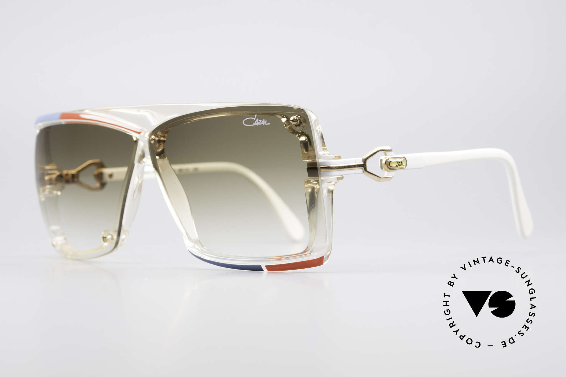 Cazal 859 West Germany 1980's Cazal, extraordinary frame coloring (typically 1980's), Made for Men and Women