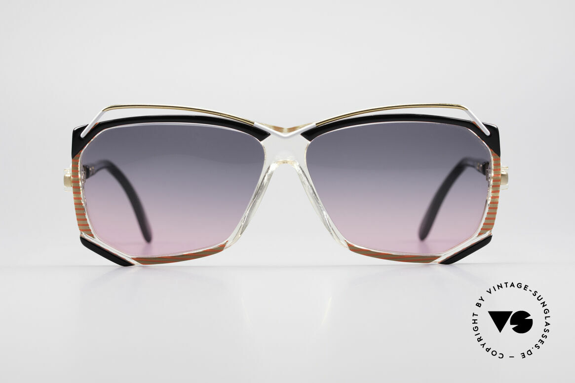 Cazal 188 Vintage Sunglasses Ladies, artistic frame with many fancy details - true vintage!, Made for Women