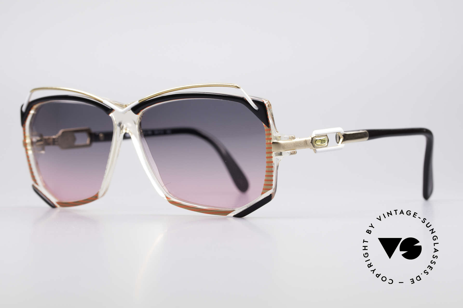 Cazal 188 Vintage Sunglasses Ladies, inventive combination of synthetic material & metal, Made for Women