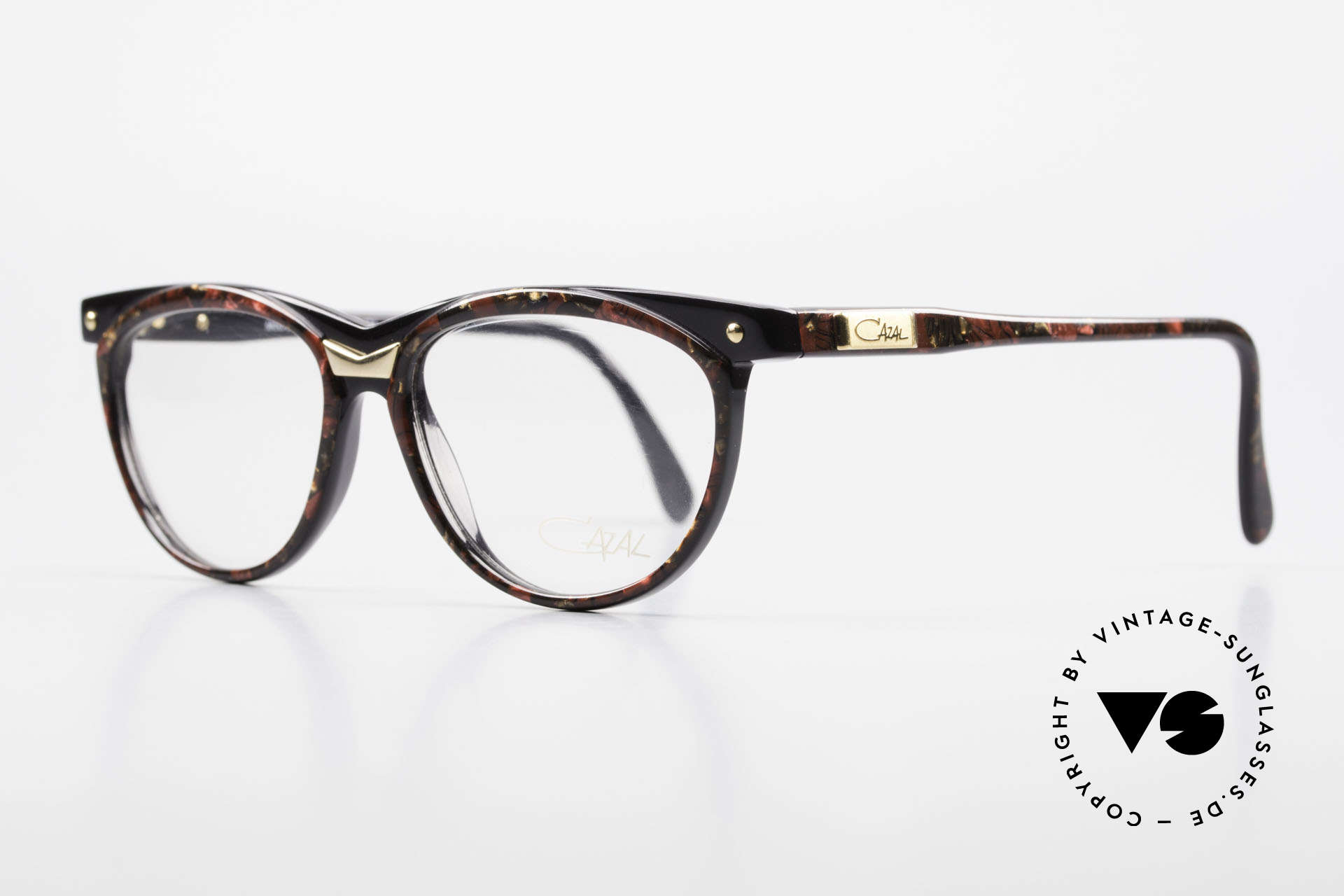 Cazal 331 True Vintage Designer Frame, unique style & coloring (root-wood patterned), Made for Men and Women