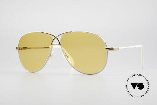 Cazal 728 Designer Aviator Sunglasses Details