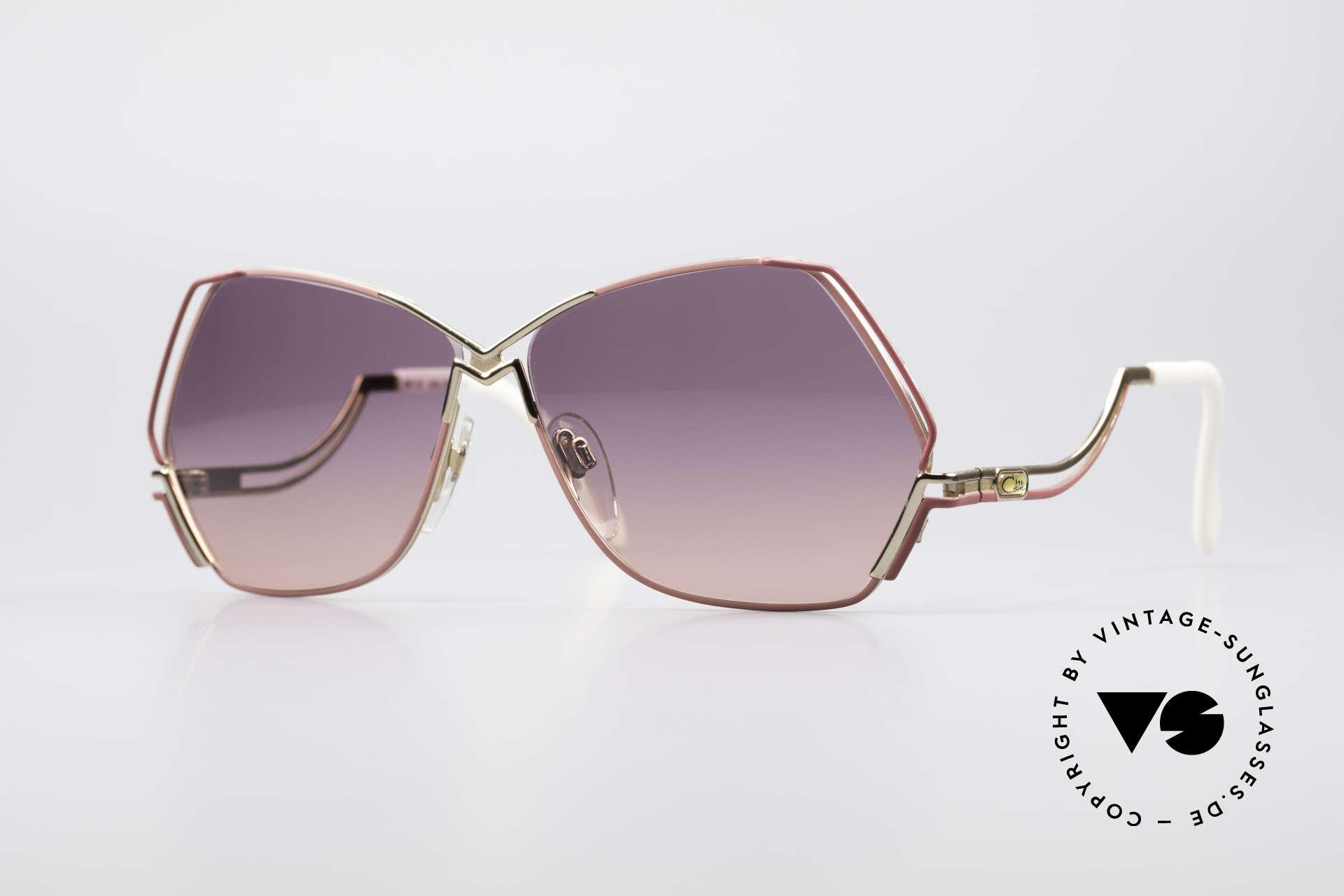 Cazal 226 Vintage Ladies Sunglasses, extraordinary CAZAL sunglasses with pentagonal lens, Made for Women