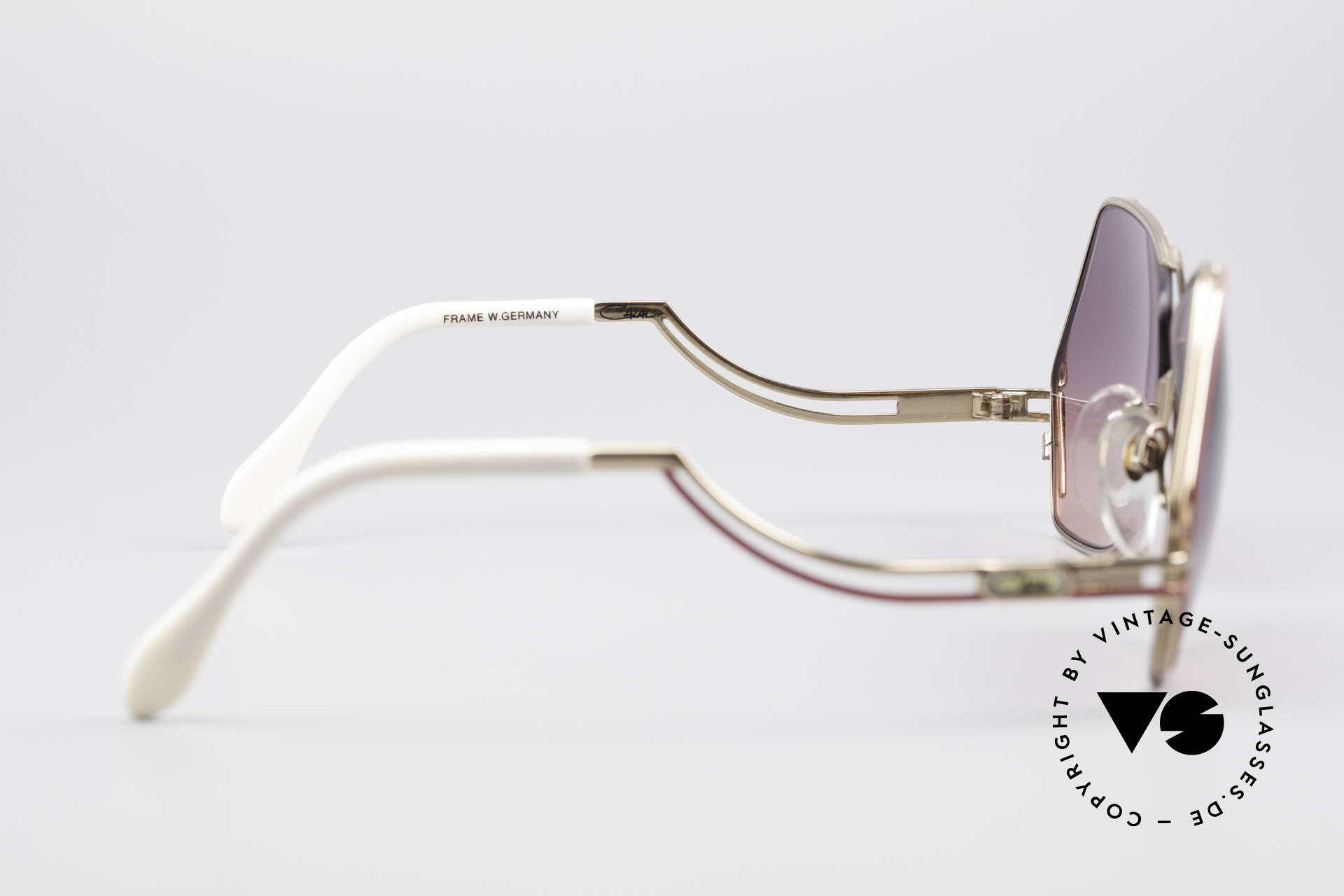 Cazal 226 Vintage Ladies Sunglasses, the sun lenses can be replaced with optical (sun) lenses, Made for Women