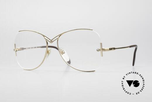 Cazal 221 Rimless 80's Eyeglass-Frame Details