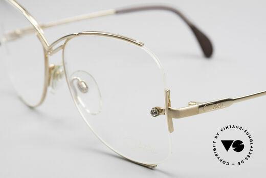 Cazal 221 Rimless 80's Eyeglass-Frame
