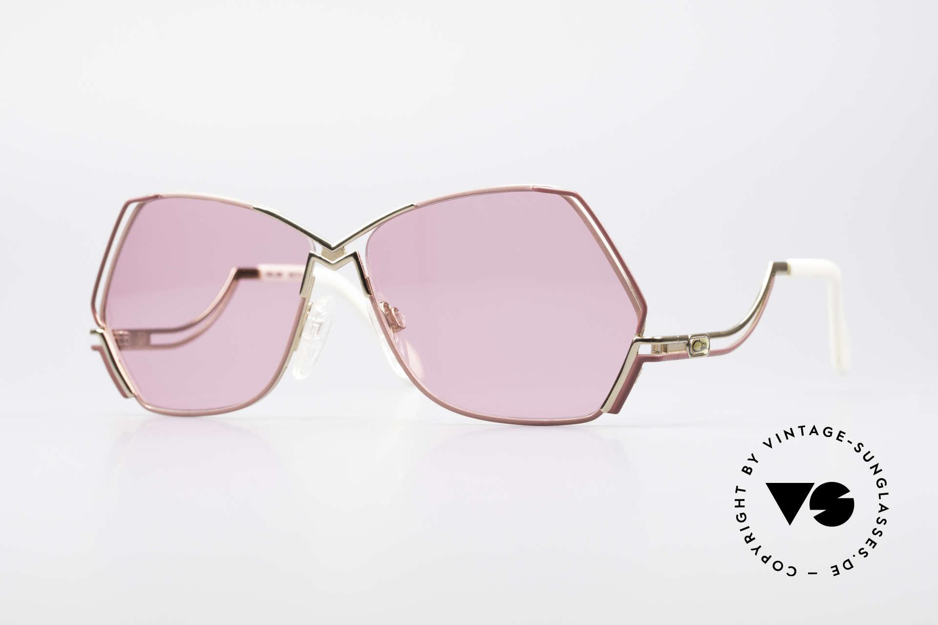 Cazal 226 Pink Vintage Ladies Sunglasses, extraordinary CAZAL sunglasses with pentagonal lens, Made for Women