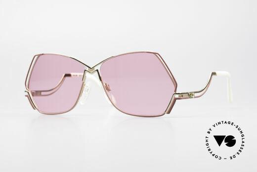 Cazal 226 Pink Vintage Ladies Sunglasses Details