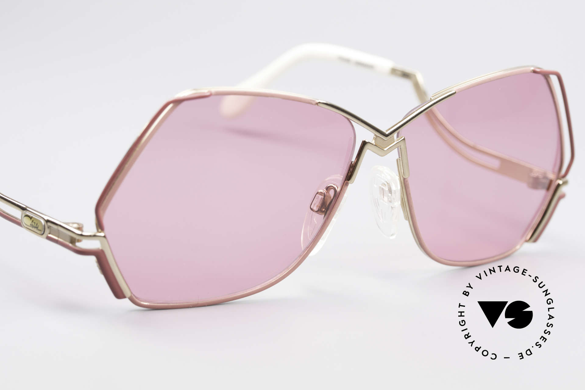 Cazal 226 Pink Vintage Ladies Sunglasses, new old stock, NOS (like all our rare old Cazal eyewear), Made for Women