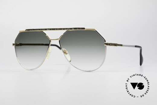 Cazal 733 Gold Plated 80's Sunglasses Details