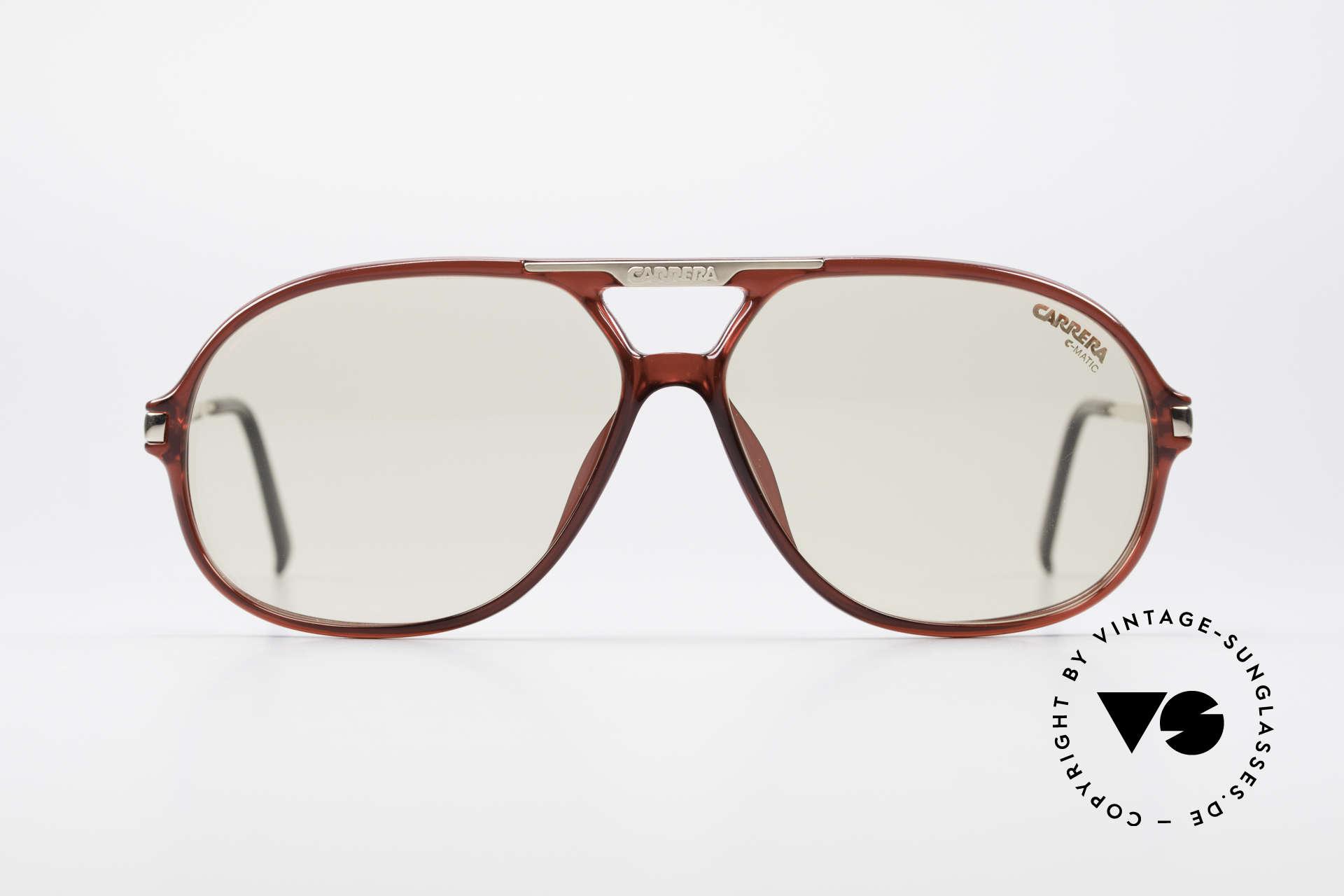 "Carrera 5411 C-Matic Extra Changeable Sun Lenses, brilliant photochromic ""C-MATIC"" lenses (darkening), Made for Men"